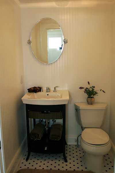 Transitional Bathroom With Subway Tiles And Wainscoting Panels Xcelrenovation