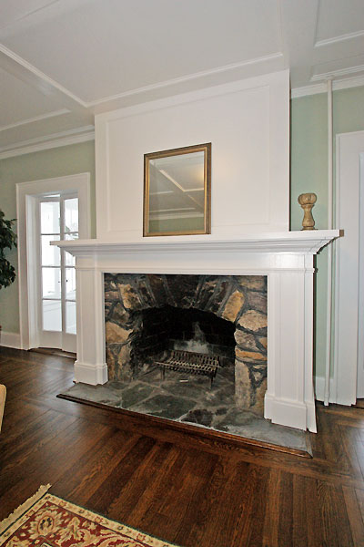 Victorian Custom Work with Coffered Ceiling and Fireplace ...