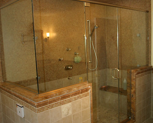 Luxury Master Bathroom With Frameless Shower And Steam Posted In