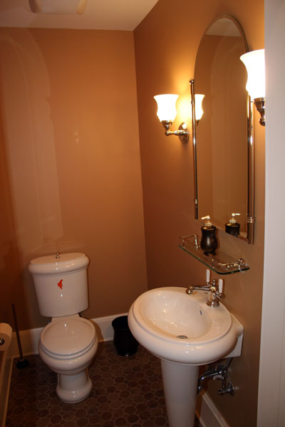 Elegant Powder Room With Pedestal Sink. Posted In Bathroom, Half Bath. See  Renovations ...