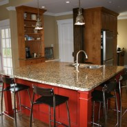 Colonial-Modern Kitchen with Custom Cabinet