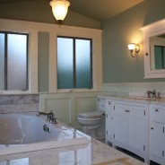 Victorian Painted Lady Master Bathroom with Carrara Marble