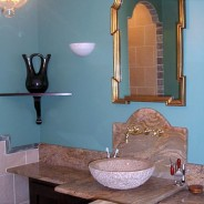 Victorian Bathroom with Custom Tiles