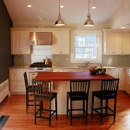 Colonial Modern Kitchen with Cathedral Ceiling