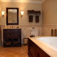 SPA Master Bathroom with Heated Floor and Jacuzzi Tub
