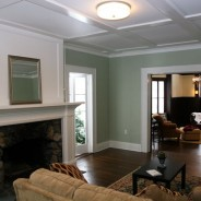 Victorian Custom Work with Coffered Ceiling and Fireplace Mantel