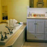 Traditional Bathroom with Pedestal Sink