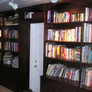 Custom Book Cases and Fireplace