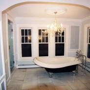 Victorian Bathroom with Clawfoot Tub